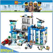 BELA Buidling Blocks 10424  City Police Station 60047 Model Compatible LEPIN Bricks Figure Educational Toy For Children 890 PCS