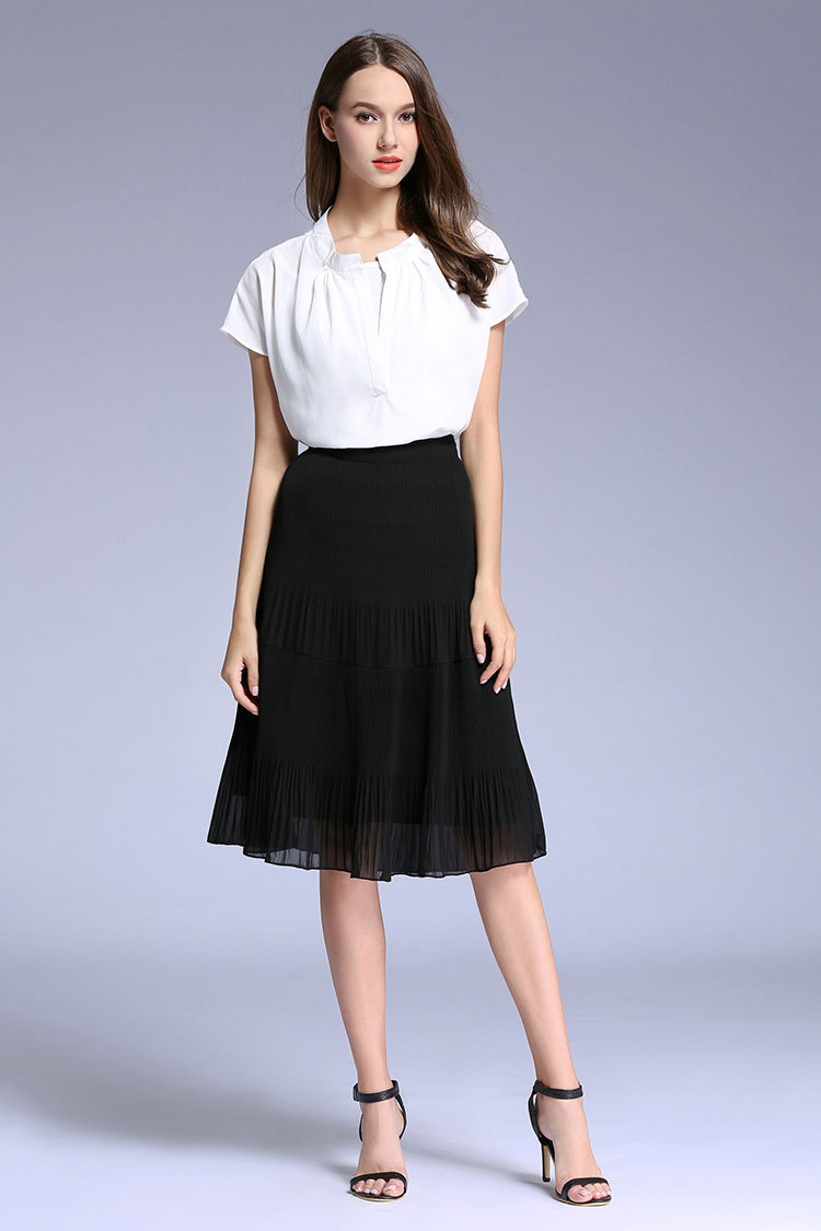 High Quality Pleated Chiffon Midi Skirt Promotion-Shop for High ...