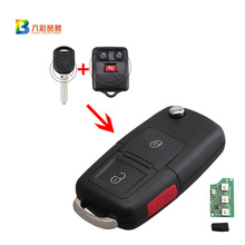 433MHZ 315MHZ New Uncut Replacement Remote Fob Flip Ignition 63Chip Key 2+1 Buttons For Ford Expedition F150 Explorer CWTWB1U345