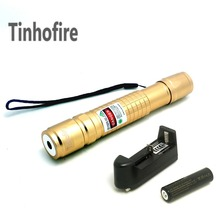Tinhofire High Power Lazer Pointer pen Check Laser 300mW Green Laser Pointer Pen+ 18650 4000mah Battery+Charger(China)