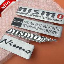 Hot sale Aluminum NISMO MOTORSPORTS logo side Badge Car rear trunk Emblem Decal Sticker Free shipping