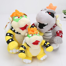 17-24cm Super Mario 3D Land Bone Kubah dragon Plush Toy Bolster Cartoon plush soft stuffed dolls Dry Bones Bowser Koopa