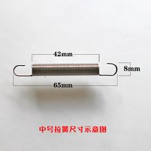 Custom high quality  tension springs,double hook tension spring,tension coil spring from china supplier, 0.8x8x65mm
