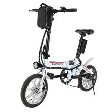 ANCHEER new bike 14 inch Bike 27 Speed Foldable Electric Power Mountain Bicycle with Lithium-Ion Battery 2 Color