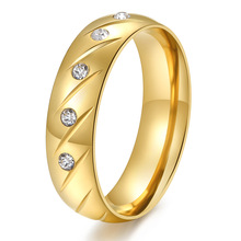 Micro Cubic Zirconia ring gold-color jewelry wedding rings men women finger ring anillos bague aliancas de casamento em ouro