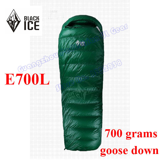 2015 Black Ice E700L high quality white goose down Hybrid winter outdoor camping sleeping bag(China)