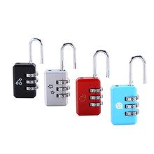 1 Pcs New 3 Digit Dial Combination Suitcase Luggage Metal Code Password Lock Padlock 4 Colors Optional