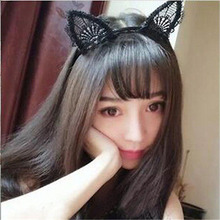 Female Women Lady Girls Kids Cute Cat Kitty Costume Ear Party Lace Hairbands Headbands Headwear Hair Head Band Accessories(China)