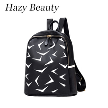Hazy beauty New oxford women star backpack super chic image printed stylish lady hand bags good quality girls school bag  DH596