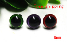 Free shipping!!! green/purple/red 3color mixed toy safety eyes kit-each color 20pcs(China)