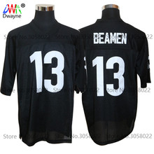2017 Vintage Cheap American Football Jersey Willie Beamen #13 ANY GIVEN SUNDAY Throwback jerseys Retro Stitched Shirts(China)