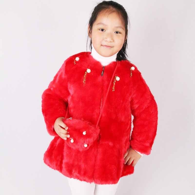 Ywstt Girl Imitation Fur Coat 2017 Winter Plus Thick Plus Cashmere Children Short Paragraph Cotton Coat<br>