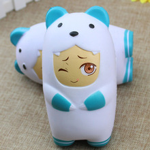 Kawaii 15CM Jumbo Bear Squishy Slow Rising Soft Phone Straps Accessories Scented Cake Kid Toy Fun Gift Phone Straps