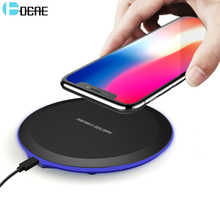 Buy DCAE Wireless Charger iPhone 8 X Qi Wireless Charging Pad Dock Samsung Galaxy S9 S8 Plus Note 8 S7 S6 Edge USB Charger for $3.69 in AliExpress store