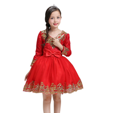 Buy Kids Girls Flower Dress Baby Girl long sleeve Birthday Party Dresses Children Girls Princess Ball Gown Wedding Clothes for $18.40 in AliExpress store