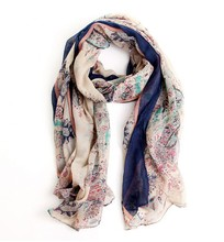 Sunsreen scarf joker fields and gardens floral scarf large scarf women winter warm scarves pashmina shawl