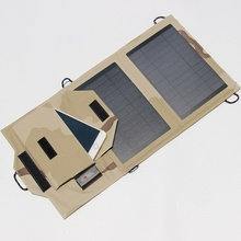 Foldable Portable 7W 5V Solar Charger Mono Solar Panel Charger For Iphone /Mobile Power Bank Battery Charger NEW High Quality