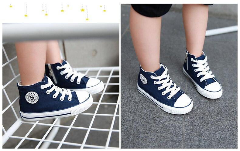 Enfants chaussures pour fille enfants toile chaussures garçons 23