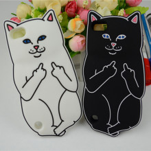 Cute 3D Cartoon Animals White Corna Cat Soft Silicone Case For iPod Touch 5 6 6th 6G T Back Cover