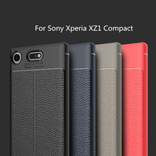 Buy HATOLY Capa Sony Xperia XZ1 Compact Case Soft Litchi TPU Case Sony Xperia XZ1 Compact Cover Sony XZ1 Compact for $2.79 in AliExpress store