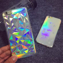 Glitter Case 3D Melting Ice Cream Geometric Grid Bling Fundas Capa Phone Cases Cover For iPhone 7 7Plus 5 5S 6 6G 6S 6Plus Coque