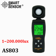 Smart Sensor AS803 Digital photography Mini spectrometer actinomete Lux Meter light meter Luminance tester 1-200,000 Lux tools(China)