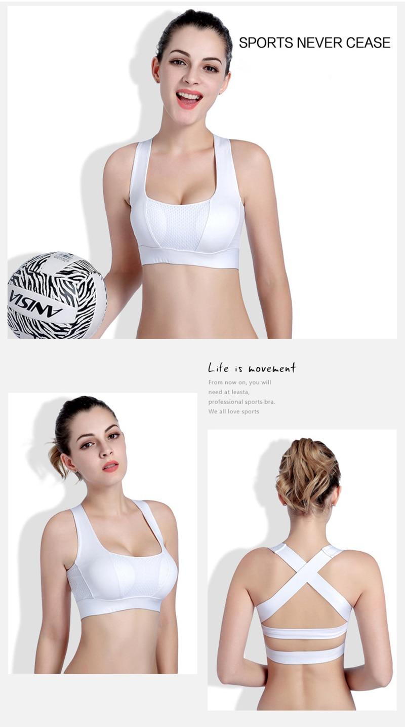 Women Cross Design Sports Bra Push Up Shockproof Vest Tops with Padding for Running Gym Fitness Jogging Yoga Shirt (16)