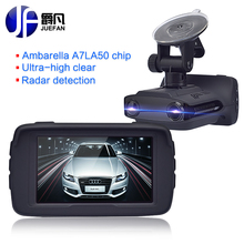 New Registrar Car DVR Radar Detector GPS 3 in 1 Car Detector Camera Full HD 1296P Speed Cam Anti Radar Mini Car Dash Cam Camera(China)