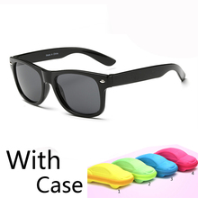 2016 New classic children baby girls boy kids sunglasses uv protection Kids Sun Goggles UV400 gift with car case eyewear