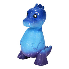 Cute Blue Galaxy Dinosaur Rex Squishy Jumbo Scented Cream Super Slow Rising Squeeze Toys Phone Charm Gift dropshipping(China)