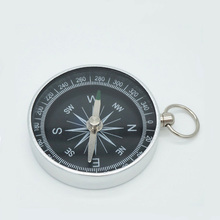 POINT BREAK ZNZ002 1pcs Lightweight Camping travel Mini Aluminum Shell Compass Hiking Navigation Metal Compass(China)