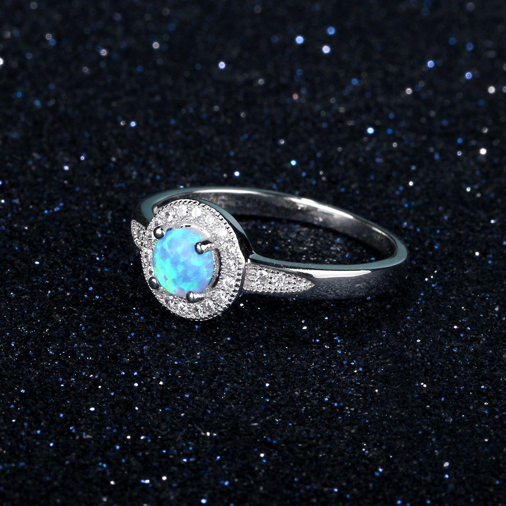 خاتم فضة بحجر جميل 5
