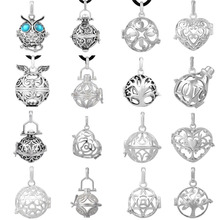 16PCS/Lot Mix Design Chime Cage Pendant for Mexican Bola Necklace Aromatherapy Locket Cage Jewelry