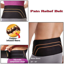 Pain Relief Belt Weight Loss Slimming Wrap Lower Spine Copper Fit Back Pro Weightloss Remedy 28-39 inch Waist