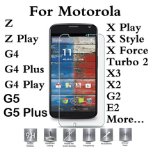 For Motorola E4 G5 G4 G3 G2 X3 X2 Plus Play M Moto Z Force X Style Force E3 Droid Turbo 2 Tempered glass Protector Screen Cover(China)