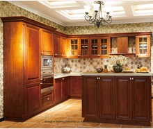 solid wood kitchen cabinet(LH-SW092)