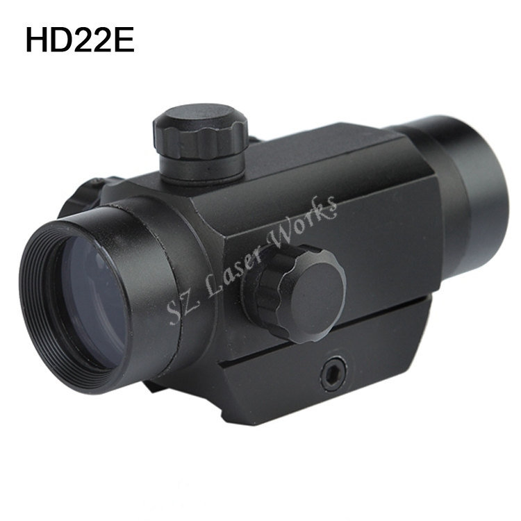 Free Shipping Tactical Mini 1x22 red green illuninated red dot sight scope with narrow gauge for air rifle scope<br>
