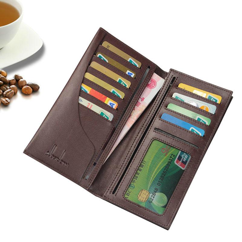 Genuine Leather Men Wallet Soft Big Bills Pocket more Card Slots Long Business Wallet Zipper Slim Men wallets A208<br><br>Aliexpress