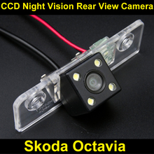 Waterproof 4 LED Rear view Camera BackUp Reverse Parking Camera for Skoda Octavia reverse camera