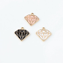 MRHUANG Oil Drop Charms 10pcs/lot Metal Pendants Gold-Color  Floating Enamel Charms Fashion Jewelry Accessories