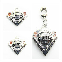 Newest MLB Sports San Francisco Giants Logo Hanging Charms Baseball Team Pendant Dangle Charms Fit DIY Bracelet&Necklace Jewelry(China)