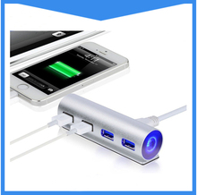 Fashion Design 4-Port USB 3.0 Hub 5Gbps Portable Compact for PC Mac Laptop Notebook Desktop