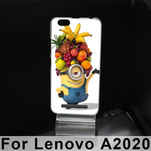 For Lenovo A2020 Vibe C Hard Plastic Mobile Phone Cover Case DIY Color Paitn Cellphone Bag Shell Free Shipping