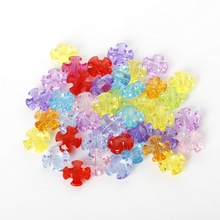 Hot Sale 12*12mm 150pcs/lot Mixed Colour Acrylic Loose Spacer cross Beads Fit Fashion Jewelry Necklace Bracelet For DIY