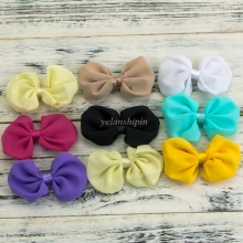 50pcs/lot 20 Colors Hair Bow Newborn Handmade Hair Bow Accessories For Women/Baby Girls Embellishment Dress Grament Hair Clips(China)