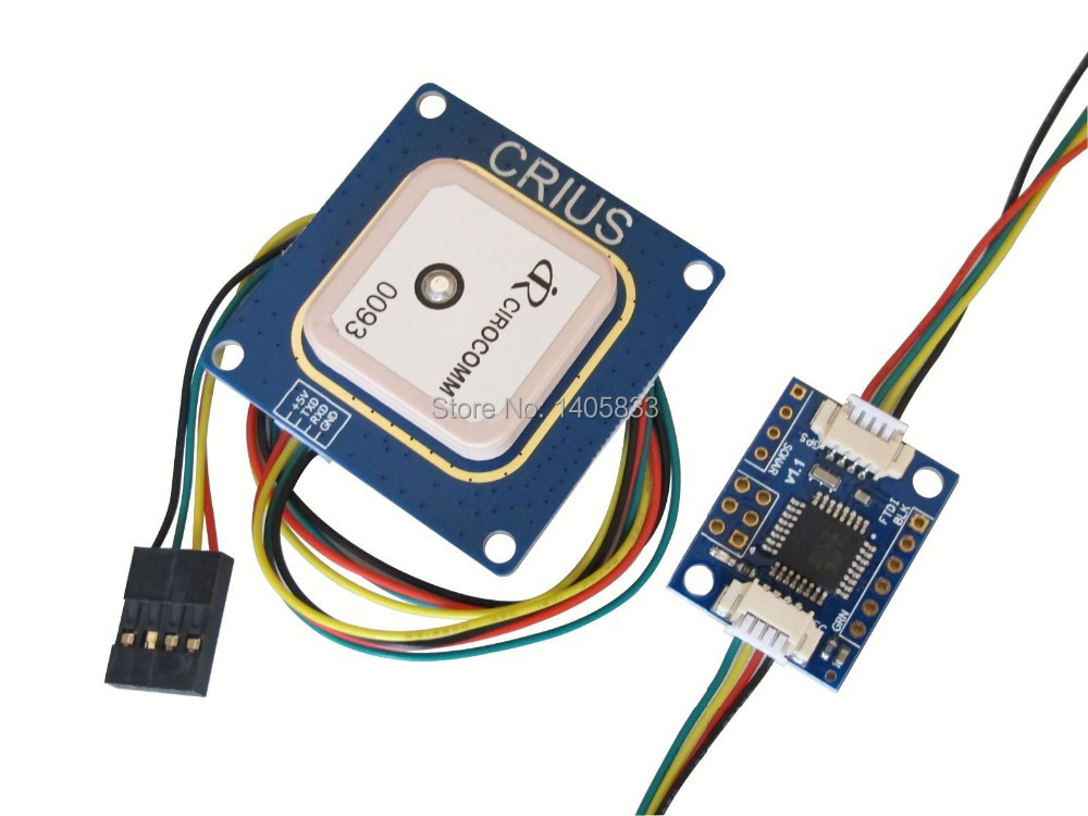 CRIUS I2C-GPS NAV Module + CN-06 V3.1 GPS Receiver U-blox for MWC MultiWii SE Flight Controller Board<br>