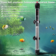 Submersible Heater Heating Rod for Aquarium Glass Fish Tank Temperature Adjustment 220-240V 25W/50W / 100W / 200W / 300W(China)