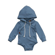 Baby Clothing Baby Boys Brother Sky Blue Hoodie Sweatshirt Hooded Tops Romper Jumpsuit Clothes(China)