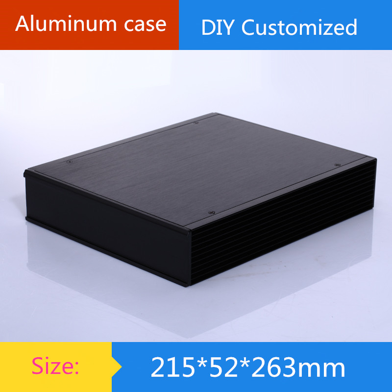 aluminum amplifier chassis /DAC/computer/Car Amplifier/Instruments case/ AMP Enclosure / case / DIY box (215*52*263mm)(China (Mainland))