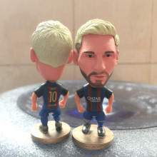 Soccerwe 2016-17 Season Series 6.5 cm Height Resin Football Doll Star 10 Messi Figure BC Blue Red